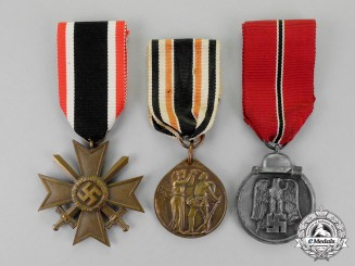 Germany. Three German Medals, Awards, and Deocrations