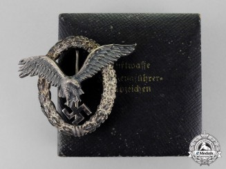 Germany. A Luftwaffe Pilot's Badge by C. E. Juncker of Berlin with Case