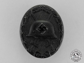 Germany. A Black Grade Wound Badge by Klein & Quenzer of Idar Oberstein