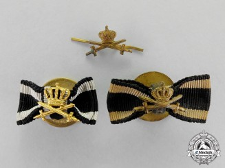 Prussia. A Grouping of Two House Order of Hohenzollern Boutonnieres