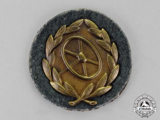 Germany. A Bronze Grade Wehrmacht Heer (Army) Driver's Proficiency Badge
