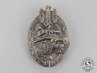 Germany. A Silver Grade Tank Badge by Adolf Scholze