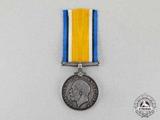Canada. A British War Medal to Belletta Paulson, Chicago Unit Nursing Staff, Base Hospital No.12 (USA)