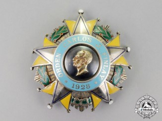 Cuba. An Order of Carlos J. Finlay, 1st Class Star, by Vilardebo & Riera Habana