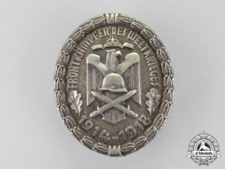 Germany. A Front Figther's of the World War 1914-1918 Commemorative Badge