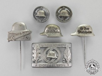 "Germany. Six ""Der Stalhelm"" Badges and Insignia"