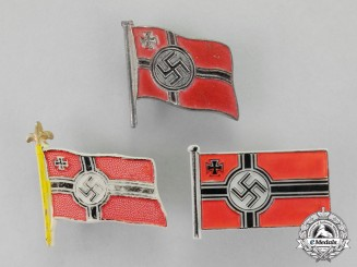 Germany. Three Battle Flag Patriotic Badges