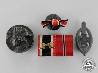 Germany.  Four First and Second War Period Badges, Pins, and Insignia