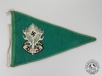 Germany.  A German Hunting Society Garland Wimpel (Girlandenfahne)