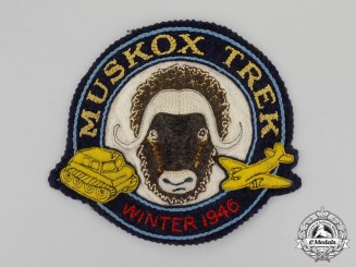 "Canada. An Operation Muskox ""Muskox Trek Winter 1946"" Jacket Patch"