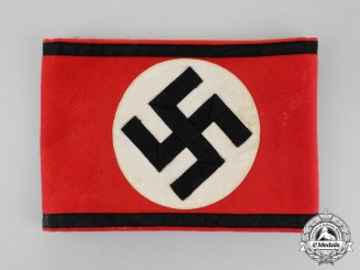 Germany. An SS Member's Armband; RZM Tagged
