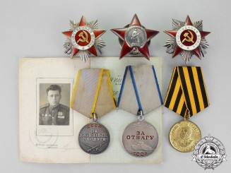 Russia, Soviet Union. An Order of the Patriotic War Veterans Award Group