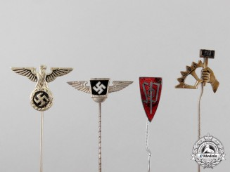Germany. Four German Political Stick Pins