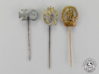 Germany. Three German Stick Pins