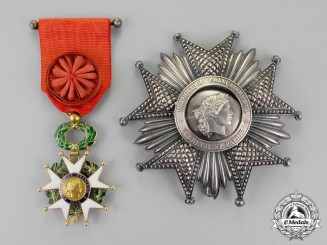 France, Third Republic. A Legion D'Honneur, Grand Officer, by Arthus Bertrand, c.1895