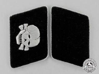 Germany. A Set of Absolutely Mint SS-Totenkopfverband Collar Tabs; First Pattern