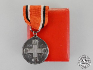 Prussia. A Red Cross Medal Second Class in its Presentation Case of Issue