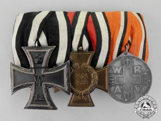 Prussia. A First War German Iron Cross and Red Cross Doctor's Medal Bar Grouping