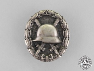 Germany A First War Imperial Silver Grade Wound Badge; Silver Private Purchase Version