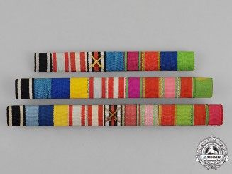 Prussia. Three Ribbon Bars of Lieutenant General Kurt Schreiber