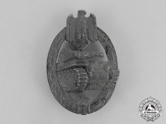 Germany. A Silver Grade Tank Badge by Hermann Aurich