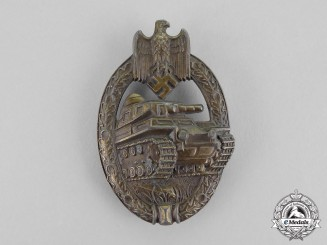 Germany. A Bronze Grade Tank Badge by Unknown Maker A.S., Type II