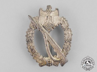 Germany. A Silver Grade Infantry Assault Badge by Metall und Kunstoff