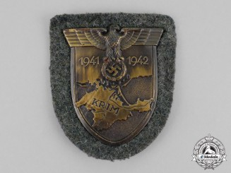 Germany. A Mint 1942 Issue Wehrmacht Heer (Army) Issue Krim Campaign Shield by Josef Feix