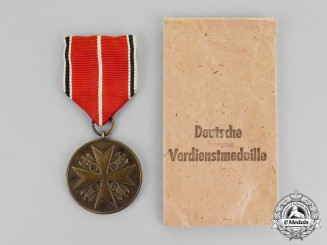 Germany, Third Reich. A Packeted Order of the German Eagle Bronze Merit Medal by the Vienna Mint