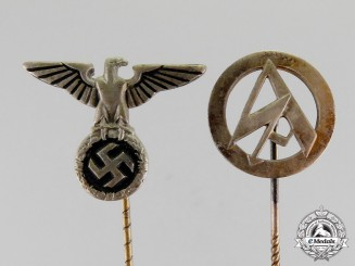 Germany. Two Third Reich Period Stick Pins