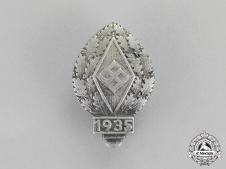 Germany. A 1935 HJ Youth Festival Sports Participation Badge by Ferdinand Wagner