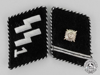"Germany. A Set of 1934-1940 SS Scharführer Rank ""Standarte Deutschland"" Collar Tabs; Type II"