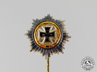 Germany. An Early 1957 Version German Cross in Gold Miniature