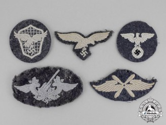 Germany. Five Second War Luftwaffe Insignia