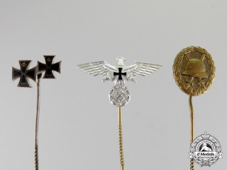 Germany. Three First and Second War German Stick Pins