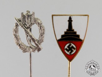Germany. Two Third Reich Period German Stick Pins