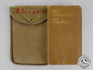 United States. A 55th Infantry Regiment, 7th Infantry Division Soldier's Diary and Note Book 1917, Named