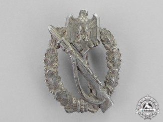 Germany. A 1941 Silver Grade Infantry Assault Badge by Sohni Heubach & Co.