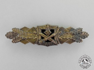 Germany. A Bronze Grade Close Combat Clasp by A.G.M & K, Large Font, Type I