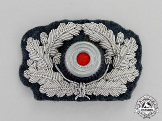 Germany. A Mint Wehrmacht Heer (Army) Bullion Visor Cap Wreath