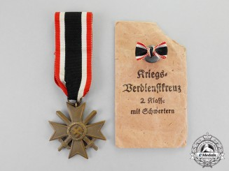 Germany. A War Merit Cross Second Class with Swords by A. Scholze of Grünwald