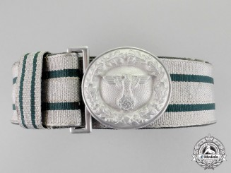 Germany. A National Forestry Service Official's Dress Brocade Belt with Buckle by Assmann