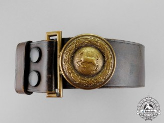 Germany. A Lower Saxony State Forestry Service Official's Belt and Buckle