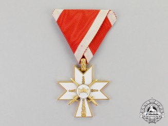 Croatia. An Order of King Zvonimir's Crown with Swords; 3rd Class. c.1941