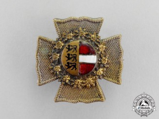 Austria. A Officer's Cap Badge, Carinthia/Koroška Front