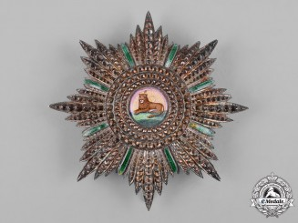 Iran, Pahlavi Empire. An Order of the Lion and the Sun, I Class Star, c.1918