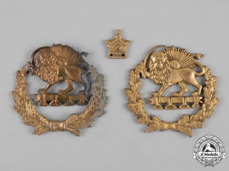 Iran, Pahlavi Dynasty. Three Insignias