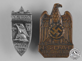 Germany, Third Reich. A Pair of Nuremberg Rally Badges