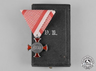 Austria, Imperial. A Cross of Merit, IV Class, with Case, by F. Braun