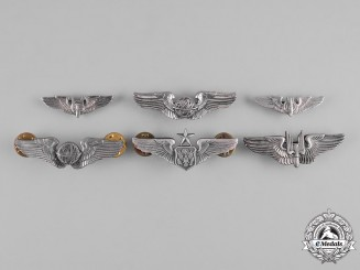 United States. A Lot of Six United States Air Force (USAF) Badges